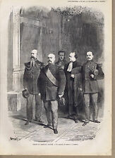Trial of French Legionaire Marshal Bazaine Versailles France -1873 Engraving