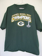 Green Bay Packers Super Bowl XLV Champions T-Shirt - Size Adult XL