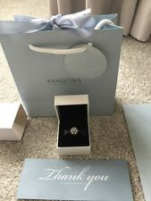 AUTHENTIC Pandora Silver ICE CRYSTALS PAVE Charm 791764CZ ALE 925 Box & Bag