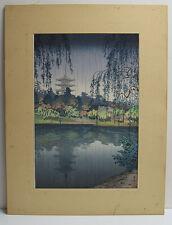 """Tsuchiya Koitsu Vintage Japanese Color Woodblock """"Kofukuji Temple in Nara"""""""