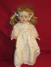 "Baby Doll in white dress 15"" Eyes Close when she lays down 1990's era"