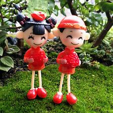1 par Mini Amates Jardín Casa Yarda Adorno Hada Figurita Bonsái Manualidades