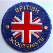 British scooteristi ENGLAND CERCHIO BLU, Bianco, oro e rosso ricamato patch