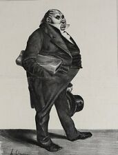 Honore Daumier France 1808 -1879 Lithograph Mr. Barthe plate 294 1833
