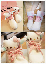 Hello Kitty US size 6 White & Pink Super Womens Casual Sneakers