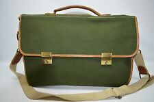 Country Road Australia Hardwear No 131 Green Canvas Leather Trim Messenger Bag