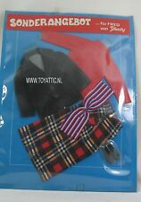 Barbie ken sized clone fashion fur Fred von Plasty sonderangebot red/blue NRFB