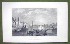 GERMANY Frankfurt am Main - 1840s Antique Print Engraving
