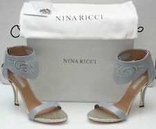 NEW NINA RICCI Sandals Light Gray  Size 39(Italian) Made in Italy