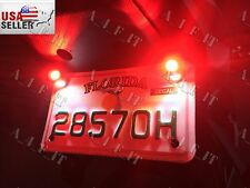 Pair of Indicators - 12 Volt LED - Universal Fit License Plate RED WHITE