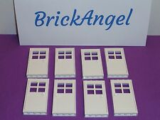 NEW LEGO Lot of 8 White Doors 1X4X6 Door Frame & Door