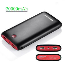 20000mAh Dual USB Mobile External Battery Power Bank Fast Charger For Cell Phone