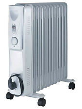 Daewoo Home Work White 2500W Portable Oil Filled Radiator Heater with Thermostat