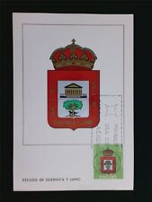 SPAIN MK 1966 ESCUDO GUERNICA WAPPEN BLAZON MAXIMUMKARTE MAXIMUM CARD MC c5583
