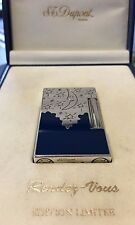 ST DUPONT RENDEZ-VOUS MOON LINGE 2 LINE 2 LIMITED EDITION SILVER LIGHTER BLUE LA