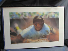 Rickey Henderson 24x34 Color Lithograph Print Signed by Artist Keith Murray