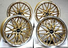 "18"" CRUIZE 190 ALLOY WHEELS GOLD POLISHED LIP DEEP DISH 18 5X110 INCH ALLOYS"