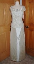 RENE MOISELLE STYLE 1733 MOTHER/GRANDMOTHER BRIDE/GROOM MOB DRESS SIZE 18 GOLD