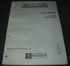 Werkstatthandbuch Elektrik Peugeot 605 Elektrische Schaltpläne Stand 01/1997
