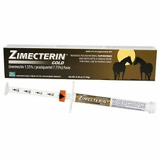 Zimecterin GOLD Ivermectin Oral Paste Horse Pony horses Treats 1,250 pounds