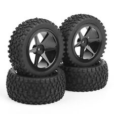 4 Pcs Front&Rear Tyres Wheel Rim For RC 1:10 Off-Road Buggy Car 25036+27011