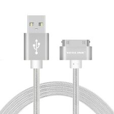 Voxlink USB Data Sync Charger Cable For Apple iPhone 4 4S 3G iPad 3 2 Silver 2M