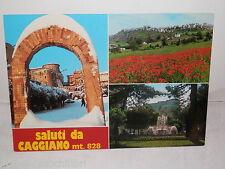 Vecchia cartolina foto d epoca di CAGGIANO Salerno paesaggio veduta arco fontana