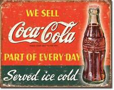 Coca Cola Every Day USA Vintage Design Metall Verkauf Schild Plakat