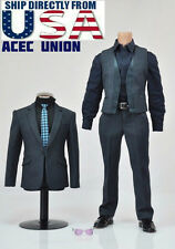 1/6 Men Suits Set With Sunglasses For Iron Man Phicen Hot Toys TTM21 Male Body