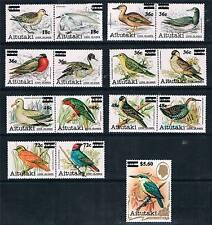 AITUTAKI 1983 BIRDS O/PRINTS SG447/61 MNH