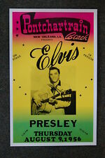 Elvis Tour Poster 1956 Pontchartrain Beach New Orleans