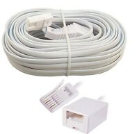 RJ11 BT Landline Telephone Extension Cable Lead Cord Phone Fax Modem Broadband