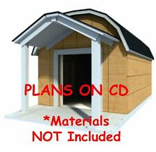 "48"" x 60"" Dog House Plans - Gambrel Roof - Pet Size To 150 lbs - Large Dog - 08"