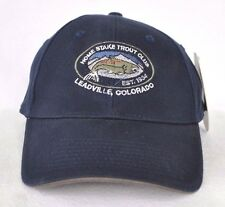 *HOME STAKE TROUT CLUB COLORADO* Fly fishing Structured Ball cap hat *OURAY*