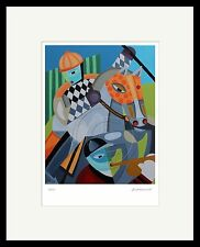 Modern Horse Racing Art of Original Oil Painting Equestrian Jockey  SFASTUDIO