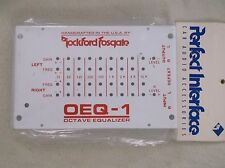 OLD SCHOOL ROCKFORD FOSGATE OEQ-1 COVER!!  VERY RARE NEW!!  VINTAGE WHITE SHROUD