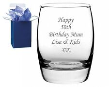 Personalised Engraved Whisky Tumbler Glass with Gift Box - Any Message Engraved