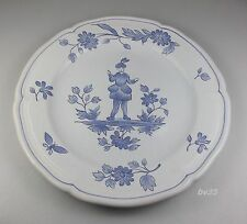 "LONGCHAMP VIRY 2 SALAD PLATES 7 7/8""-  resembles blue moustiers"