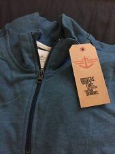 NWT Men's Light Blue Dockers Quarter Zip Sweater Sz XL
