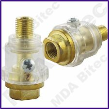 """Fast Mover 2 x FMT6061 Mini In-Line Oiler Lubricator Pneumatic Air Tools 1/4"""""""