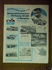 1965 Monogram Slot Cars Kits (Li'l Coffin) Model Promo Vintage Toy Hobbie Art Ad