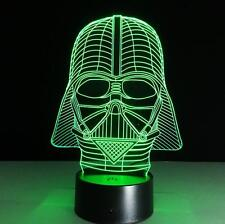 3D LED Star Wars Darth Vader Illusion Touch Table Desk Lamp Night Light Gift B16
