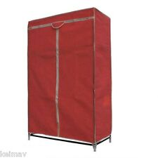 Storage Wardrobe and Clothes Organizer (Red/Maroon)