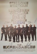 Signed Collectible Autographs THE EXPENDABLES  Movie Poster