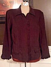 Women's Clothing Suit Jacket Professional Career Brown Size 18 Medium