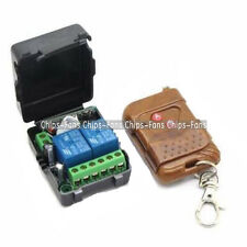 DC 12v 10A relay 2CH wireless RF Remote Control Switch Transmitter+ Receiver CF
