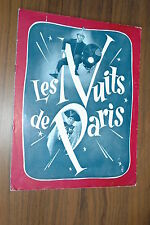 RAYMOND BUSSIERES LES NUITS DE PARIS 1951 RARE SYNOPSIS SEXY GIRLS MUSIC HALL