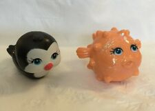 2008 Mattel Polly Pocket Shimmer n Splash Pets Penguin Puffer Fish Lot of 2