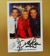 GENUINE AUTOGRAPHED PHOTO ~ POSTCARD SIZE ~ A QUESTION OF SPORT TEAM x 3