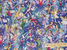 Enchanted Fairy Fairies Michael Miller Christmas Fabric  by the 1/2 Yard #DM7049